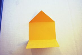 The card is folded into an envelope shape