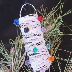 Starched string christmas ornaments - String ornaments christmas ...