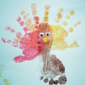 A handprint turkey
