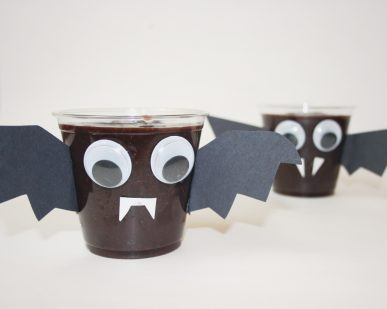 Two bat pudding cups