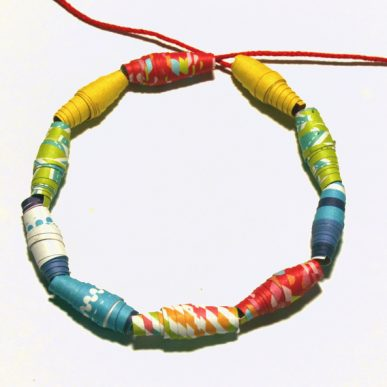 A circle of paper beads