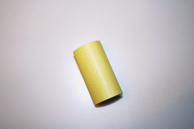 A roll of yellow paper