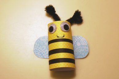 A bee made from paper