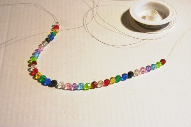 Glass beads on a wire