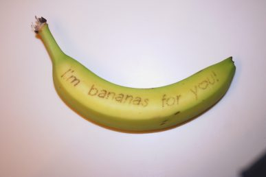 A message on a banana