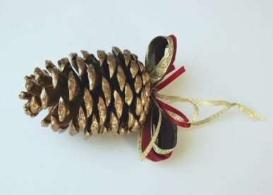 A pinecone ornament