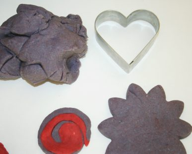 Purple and red Kool-Aid salt dough