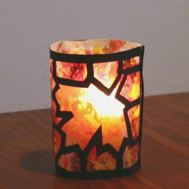 Glowing candle holder for autumn