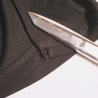 Two slits and scissors