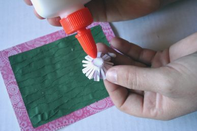 Attaching the flower