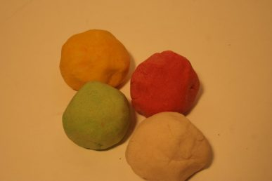 The finished balls of salt dough