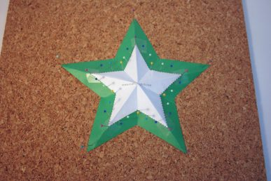 The star on the bulletin board.