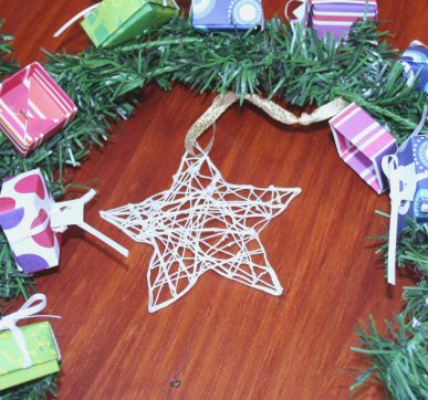 The white string star ornament