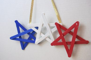 A patriotic wall hanging