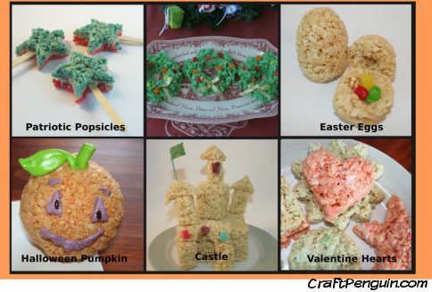 Rice Krispy projects