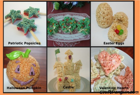 Things you can make with rice krispy treats