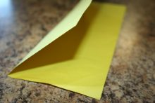 Fold the paper lengthwise